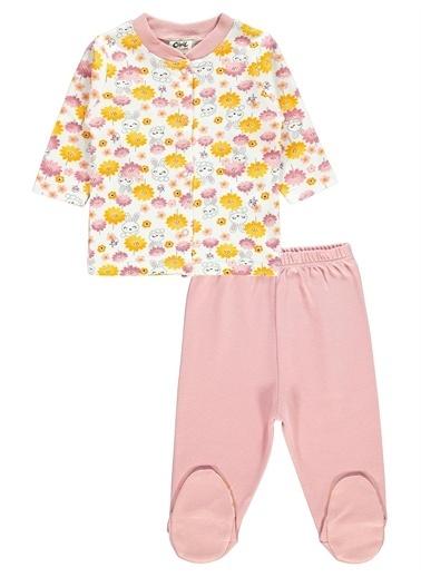 Civil Baby Civil Baby Bebek Pijama Takımı 0-6 Ay Pembe Civil Baby Bebek Pijama Takımı 0-6 Ay Pembe Pudra